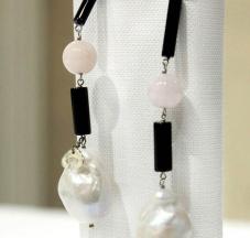 Perle nucleate, Onice, Morganite