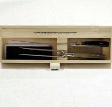 Coltello e forchettone da arrosto