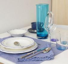 Bicchieri in confezione da 4 e Brocca in vetro colorato