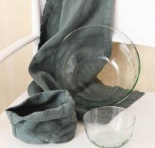 Coppa e coppette in vetro riciclato e soffiato