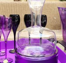 Caraffa in vetro soffiato